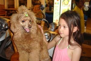 漂亮寶貝在墾丁遇見可愛狗寶貝